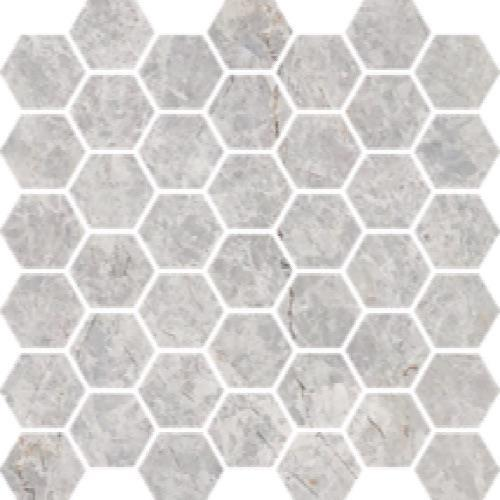 Nuvoloso Brushed 2 Hexagon Mosaic