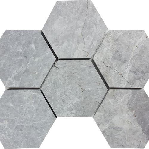 Nuvoloso Brushed 4 Hexagon Mosaic