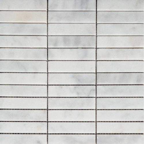 Bianco Venato Stacked 1X4 Mosaic