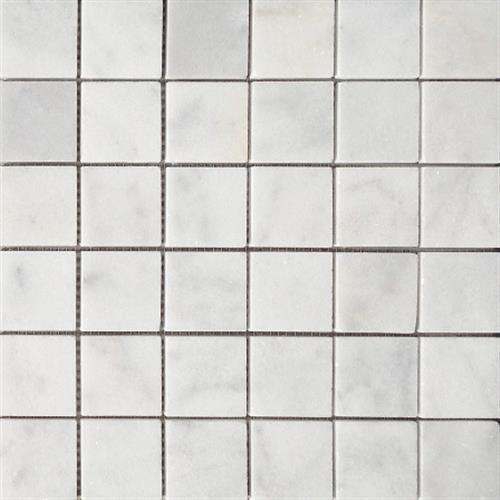 Bianco Venato Brushed 2X2 Mosaic
