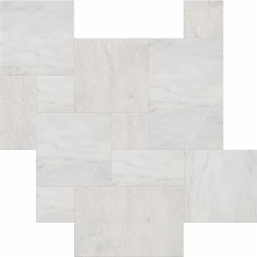 Tesoro Bianco Venato Brushed 4pc Versailles Pattern Natural