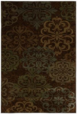 Abstract Lace Brown
