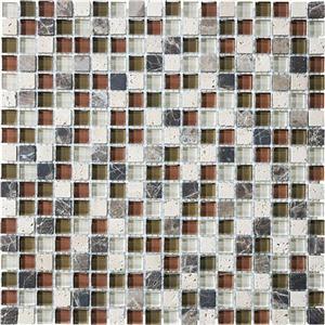 GlassTile BlissGlassStone 35-005 Cabernet