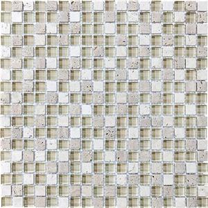 GlassTile BlissGlassStone 35-006 CremeBrulee