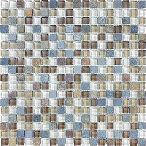 GlassTile Bliss-GlassSlateQuartz 35-017 AmberTea