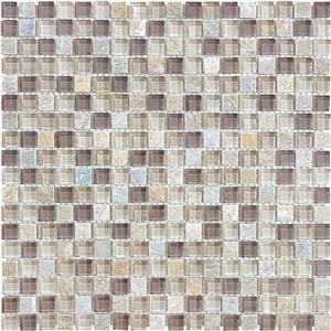 GlassTile Bliss-GlassSlateQuartz 35-020 CottonWood