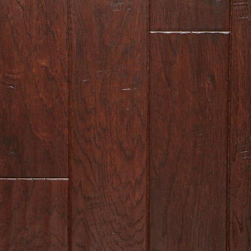 A close-up (swatch) photo of the Hickory Cocoa flooring product