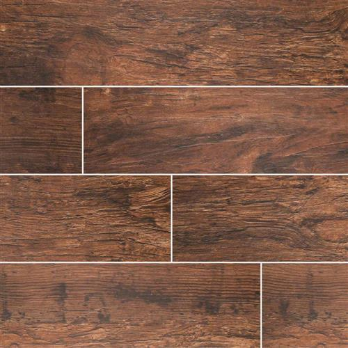 Redwood Wood Plank Porcelain Tile Mahogany