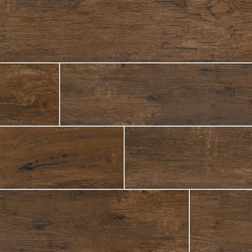 Redwood Wood Plank Porcelain Tile Mahogany - 8X48
