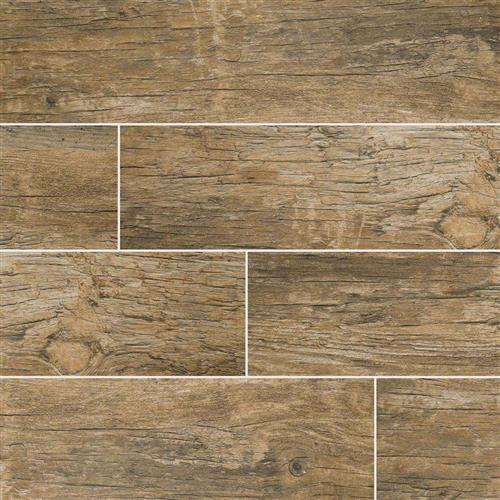 Redwood Wood Plank Porcelain Tile Natural