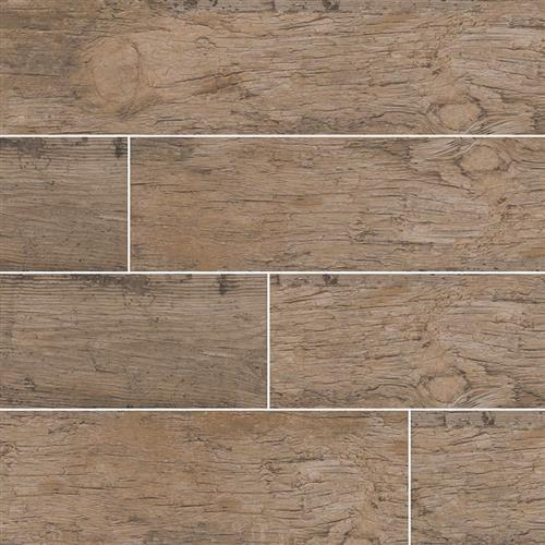 Redwood Wood Plank Porcelain Tile Natural - 8X48