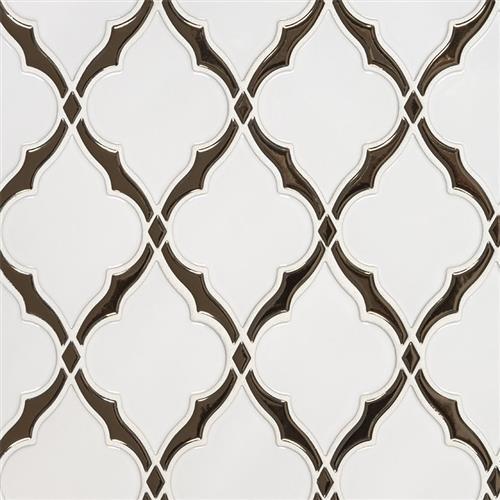 Whisper White in Victorian Light Arabesque - Tile by MSI Stone