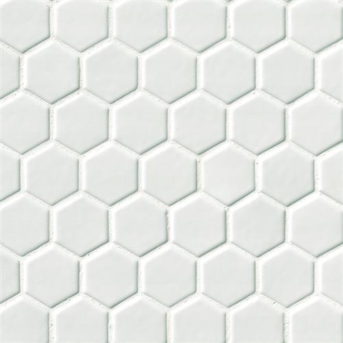 "Whisper White in White 2"" Hexagon - Tile by MSI Stone"