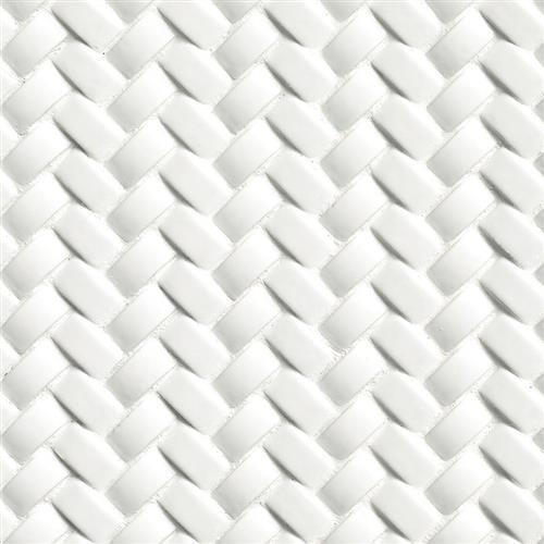 Whisper White in Arched Herringbone - Tile by MSI Stone