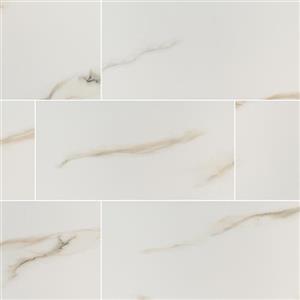CeramicPorcelainTile Aria NARIBIA2448P Bianco-24x48