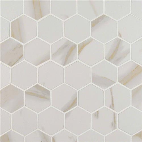 Pietra Calacatta Hexagon Mosaic