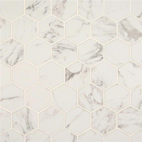 Pietra Statuario Hexagon Mosaic