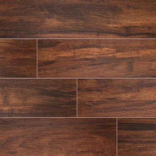 Botanica Wood Plank Porcelain Tile Teak