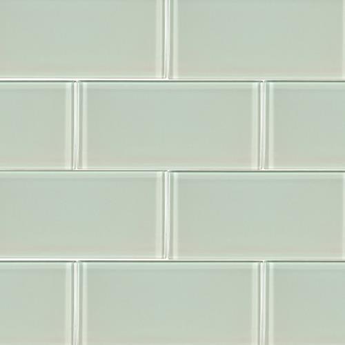 Artic Ice Glass Subway Tile 3X6
