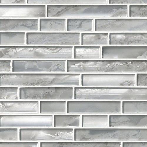 Silver Canvas Interlocking Pattern