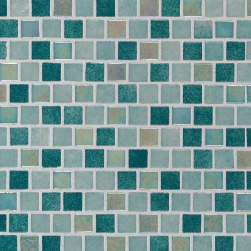 Caribbean Jade Glass Tile