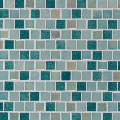 Caribbean Jade Glass Tile