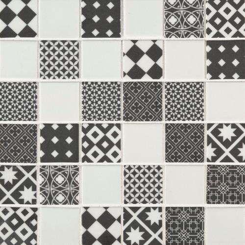 Checkorama Glass Mosaic Tile