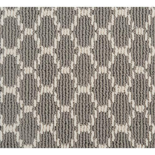 Pioneer Interlock in Grey Pearls - Carpet by Stanton
