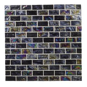 GlassTile RaindropsII 70083 AuroraBlack