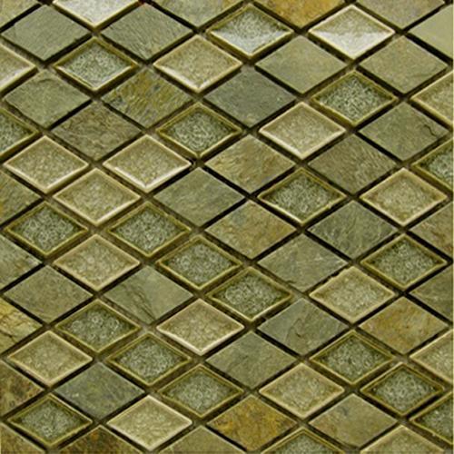 GLASS AND STONE Art Glass Rustic Slate Diamond