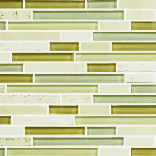 IN STOCK GLASS AND STONE MOSAICS Ivory Botticino  Glass Random Length