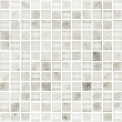 IN STOCK GLASS AND STONE MOSAICS Carrara  Glass 1X1