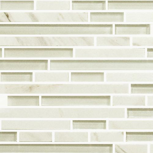 IN STOCK GLASS AND STONE MOSAICS Carrara  Glass Random Length
