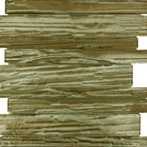 GLASS TILE Hickory Wood Planks