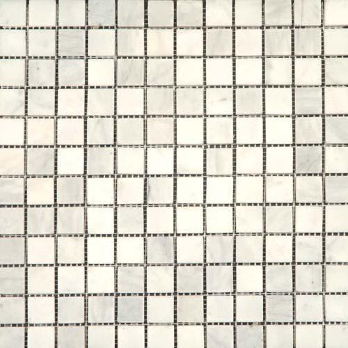 CARRARA MARBLE 1X1 Carrara Mosaic Honed