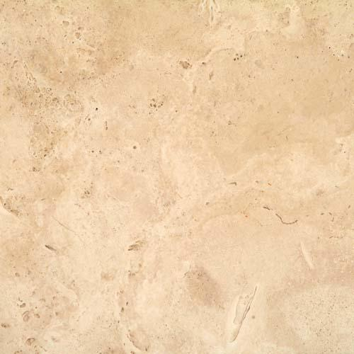 TRAVERTINE 16X16 Cream Chiseled  Brushed