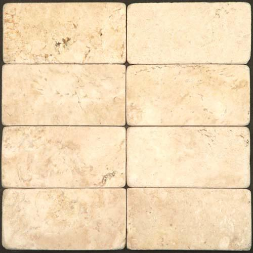 TRAVERTINE 3X6 Cream Tumbled