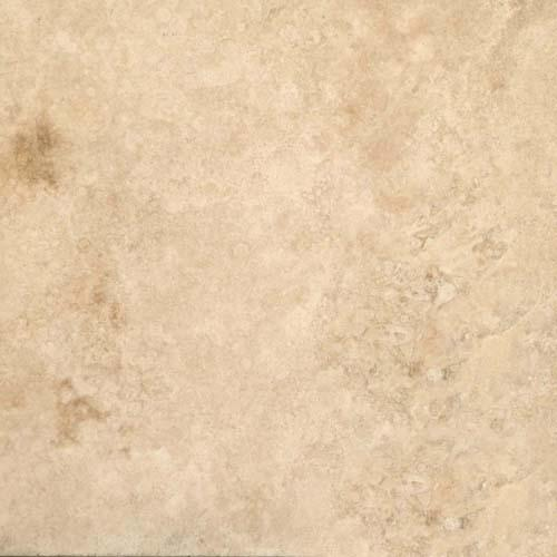 TRAVERTINE 8X8 Cream Chiseled  Brushed