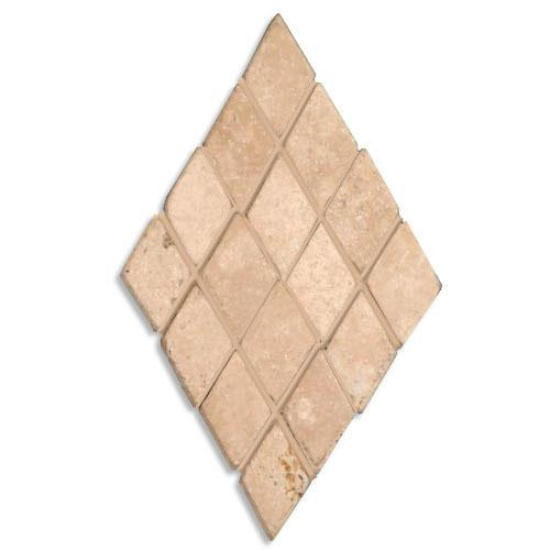 TRAVERTINE 1X1 Mini-Diamond Mosaic Cream