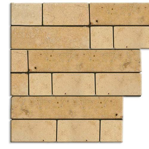 TRAVERTINE Random Mosaic Cream
