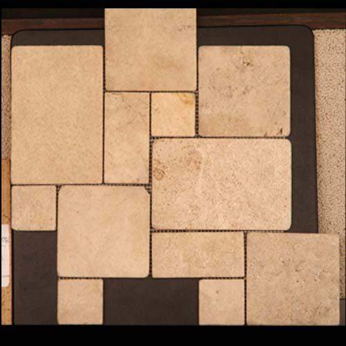 TRAVERTINE Versailles Mosaic Cream