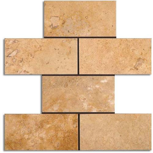 TRAVERTINE 3X6 Gold Honed