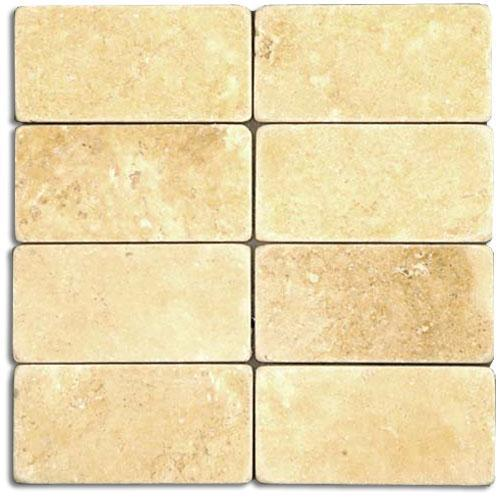 TRAVERTINE 3X6 Gold Tumbled