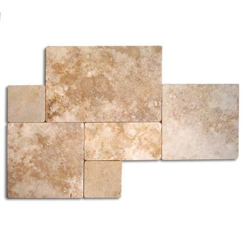 TRAVERTINE Versailles Gold Tumbled  Brushed