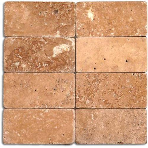 TRAVERTINE 3X6 Noce Tumbled