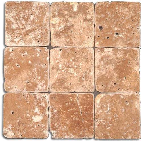 TRAVERTINE 4X4 Noce Tumbled