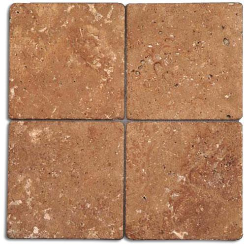 TRAVERTINE 6X6 Noce Tumbled