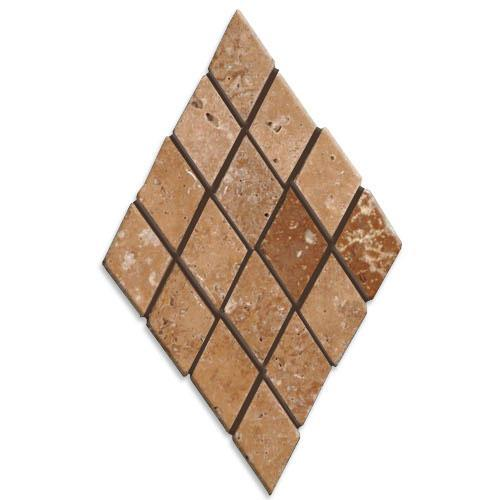 TRAVERTINE 1X1 Mini-Diamond Mosaic Noce