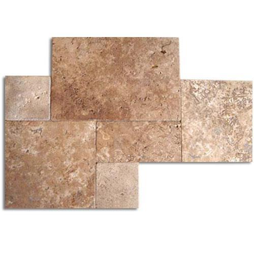 TRAVERTINE Versailles Noce Tumbled  Brushed