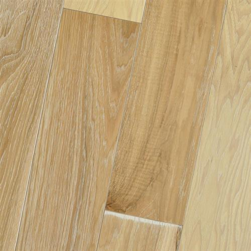 Wire Brushed - Solid Hickory Natural White Limed